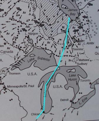 Glacial lobe map b