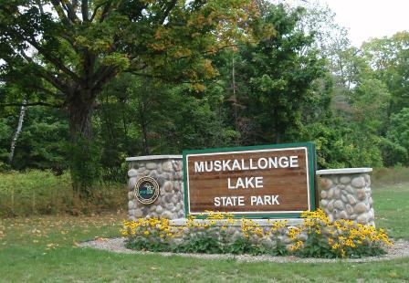 Muskallonge Lake sign b