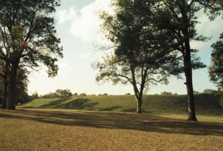"That plain is revealed to be the top of Emerald Mound, which qualifies as ""enormous."" It is second in size only to the largest of the Cahokia mounds."