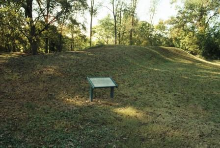 This is Temple Mound, at the Natchez Grand Village.
