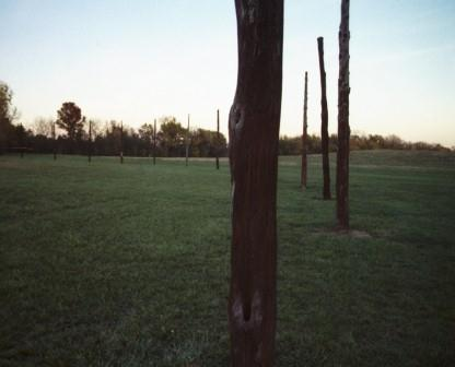 This reconstructed ring of poles, nicknamed Woodhenge, apparently was a ceremonial observatory.