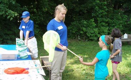 Connor Prairie volunteers provided a wide range of bioblitz related activities.