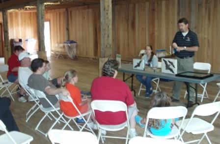 A presentation on bats by scientists from Ball State University