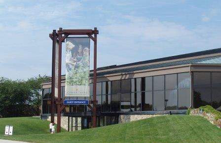 Entrance to Connor Prairie Visitor Center
