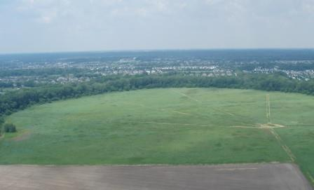View of the restored prairie from the balloon.