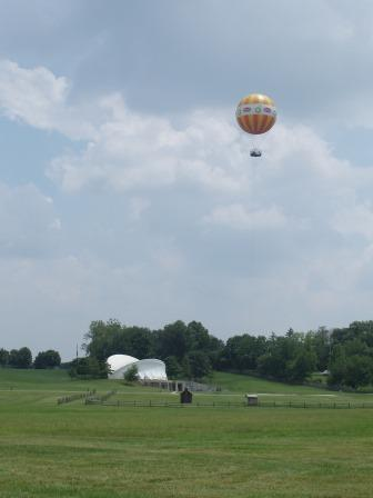 A tethered balloon ride, providing an elevated overview of the area, is billed as a 19th Century attraction.