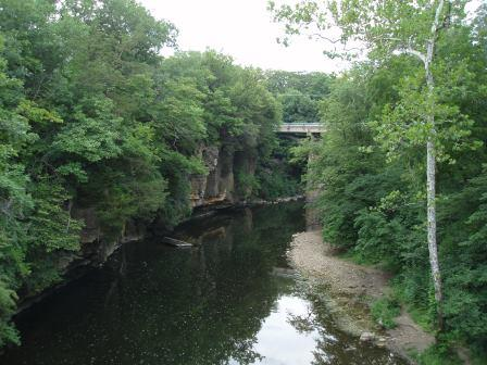 An attractive scene at Kankakee River State Park.