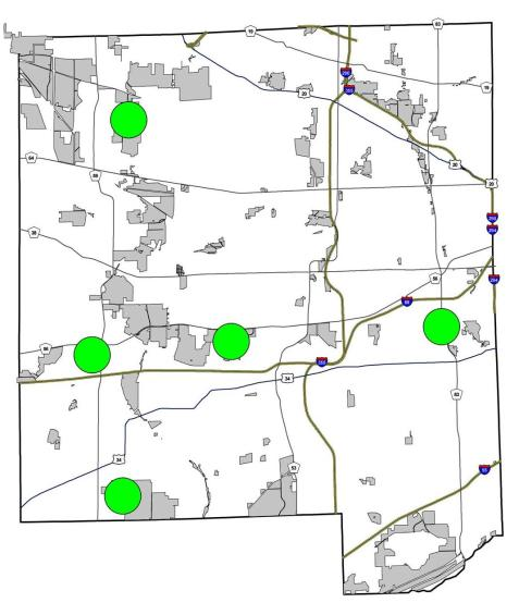 Swamp cicada observations in DuPage County. The West Branch location establishes the species in the northern half of the county.