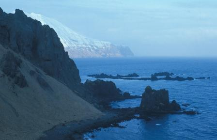 Sea cliffs, Adak Island. Formations like this have inspired scientists to discover the dynamics of the Earth that produced them.