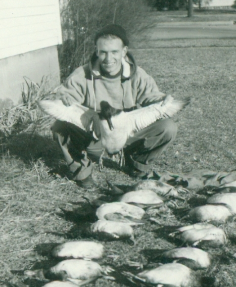 Hunting and fishing were family traditions. A good day's results, 1949.