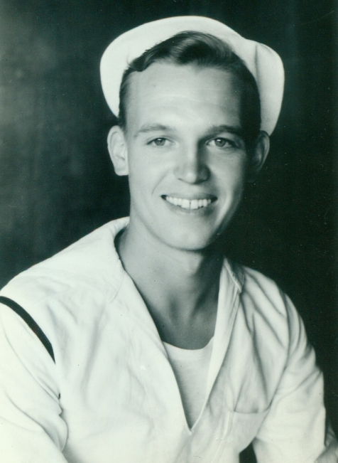 In his Navy uniform