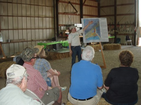Betsy presented an overview of the area's geology for interested participants.