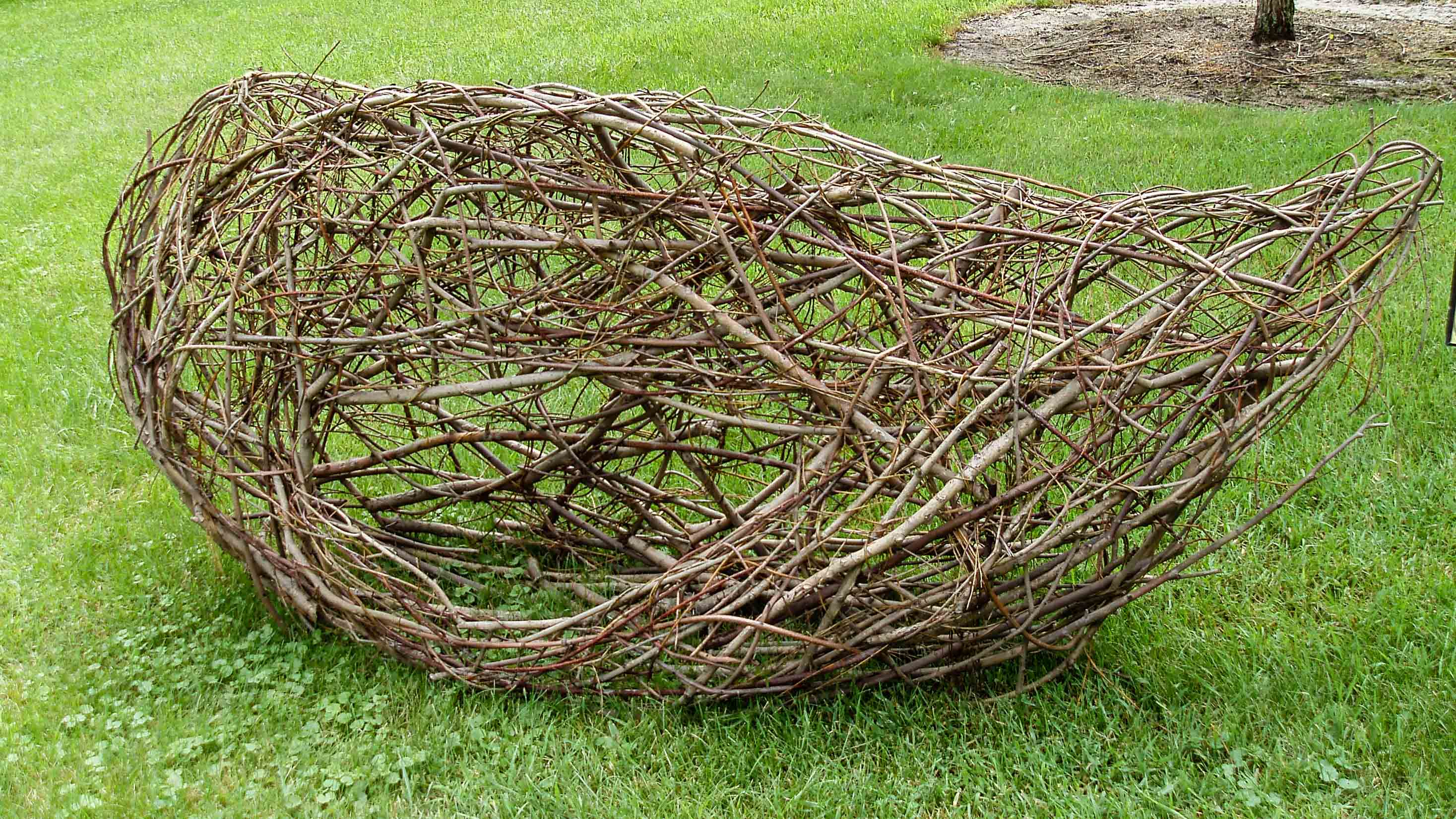 """Artists were encouraged to use collected materials. This is """"Nest,"""" by Vivian Visser."""