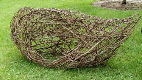 "Artists were encouraged to use collected materials. This is ""Nest,"" by Vivian Visser."