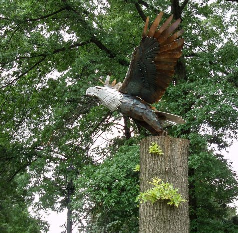 The opening piece is this eagle launching itself into flight, by sculptor Dan Massopust.