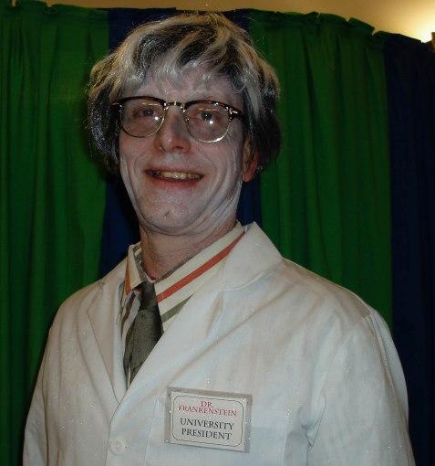 As Helmut Frankenstein, president of the University of Notre Dead…