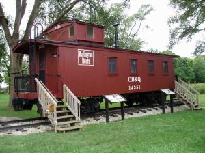 This caboose is an incongruous presence, testimony to a wealthy collector's interests.